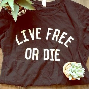 Live Free Or Die Biker New Hampshire Tee